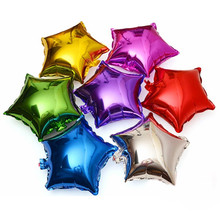 8pcs 10inch Stars Foil Balloons for Romantic Wedding New Year Birthday Party Decoration Supplies Wholesale Multicolor Balloon