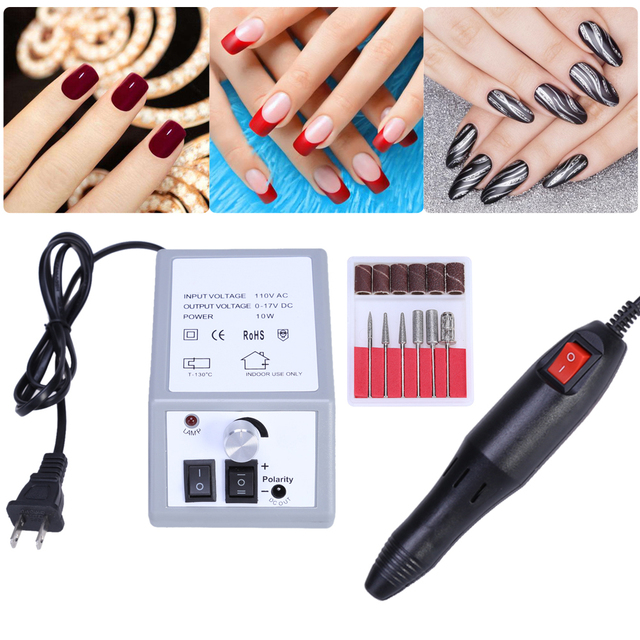 Preofessional Electric Nail File Drill Machine Salon DIY Manicure ...