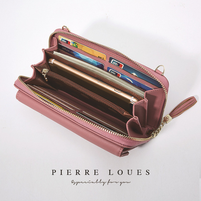 2018 Las Zipper Handbags Forever Young Large Capacity Diagonal Mobile Phone Card Coin Wallet Shoulder Bag