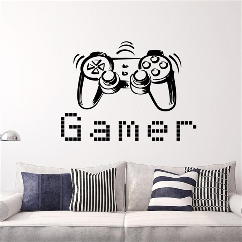 Nave di goccia Controller di Gioco Gamer Wall Sticker Per Bambini ...