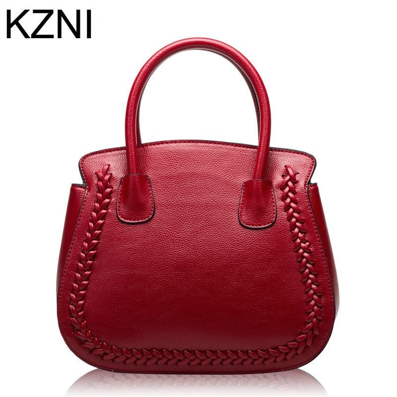 KZNI designer bags famous brand women bags 2017 genuine bag women borse donna marche famose 2017 brand pelle marchio L010146