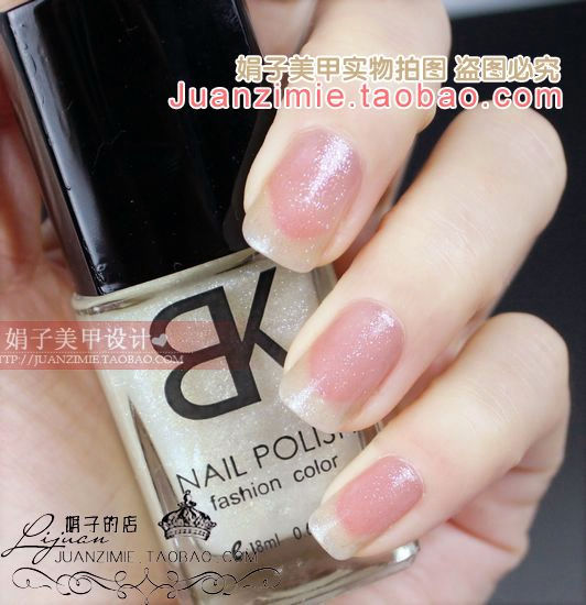 Bottle nail art casebottle bk nail polish oil 18ml 83 silveriness