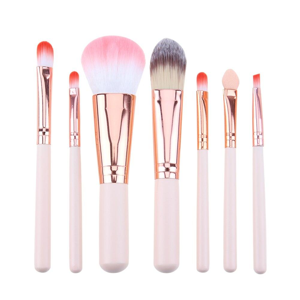 4 Pcs Set High Quality New Women Professional Makeup Brush Tools Travelling  5pcs Soft Nylon Hair 12 8 7pcs 1pc Mini Pink Cosmetics Kit De Pinceis