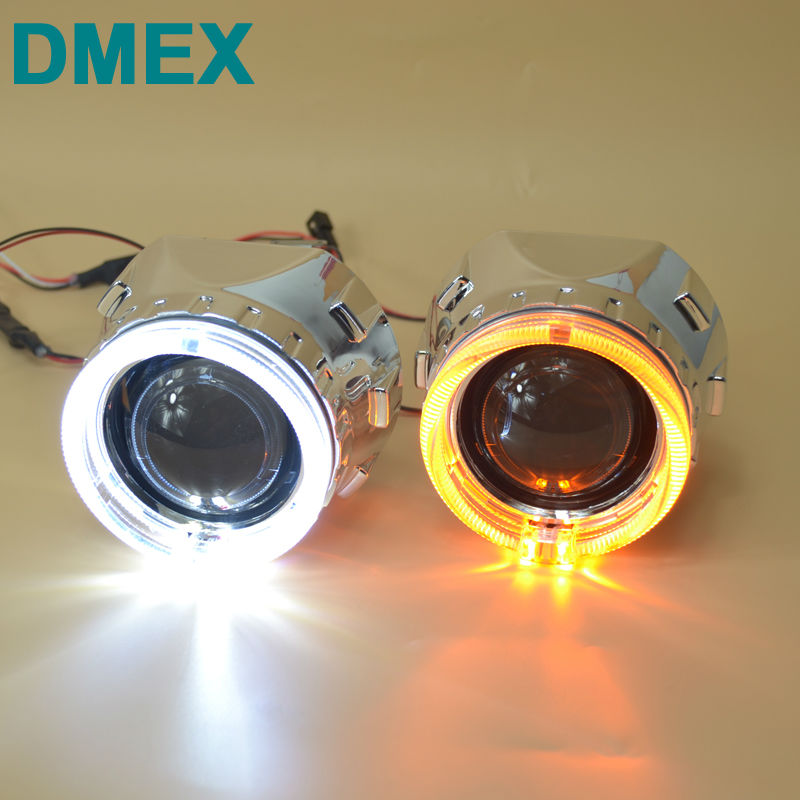 DMEX Car Styling 2 PCS HID Projector Lens Mini HID Bixenon H1 Projector HeadLight Lens Suitable For H4 H7 Car Headlight House