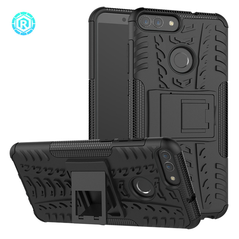 For Huawei P Smart Case Silicone Soft TPU+Hard PC Armor Cover For Huawei Nova Lite 2 /Enjoy 7s Case For Huawei P Smart Case Capa