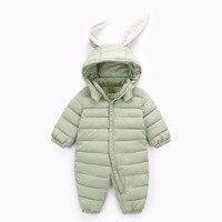 Bunny Rompers Baby Winter Infant New Year Baby Winter Cloth Coveralls Newborns Warm Romper Rabbit Winter Overalls For Newborns
