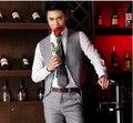 Colete Desgaste Formal Do Casamento Sem Mangas Novo Homem Social Formal Colete terno Homens 3XL Preto Cinza Homens Vestido Colete Coletee Masculino Social