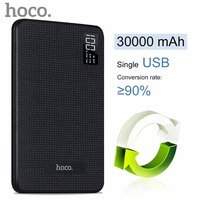ORIGINAL HOCO Portable Fast Charge 30000mAh Mobile Power Bank Three USB Output Lithium Polymer Batteries Digital