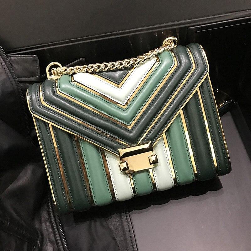 Style de réservation dames en cuir véritable diamant treillis sac à main femmes sacs à main mode houlder sac