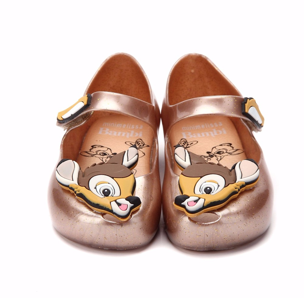 kids shoes cute Girls boys casual shoes Childrens Sandals cartoon Bambi deer beach sapato Princess Shoes Jelly mini melissa