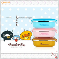 1Pcs Cute Cartoon Japanese Thermal Lunch Box Leak Proof Stainless Steel Bento Box Kids Portable Picnic