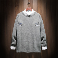 5XL Christmas Pullover Men 2019 New Winter High Quality Pullover Sweater O neck Men jumper Sweaters M 4XL 9109