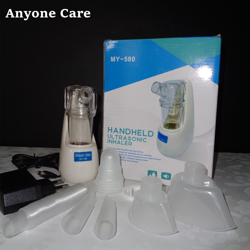 2018 ใหม่ Handheld ultrasonic Inhaler atomizer sprayer aroma steamer ครัวเรือน Mini Nebulizer หอบหืดเครื่องช่วยหายใจนึ่งอุปกรณ์-ใน อุปกรณ์สำหรับนึ่ง จาก ความงามและสุขภาพ บน   1