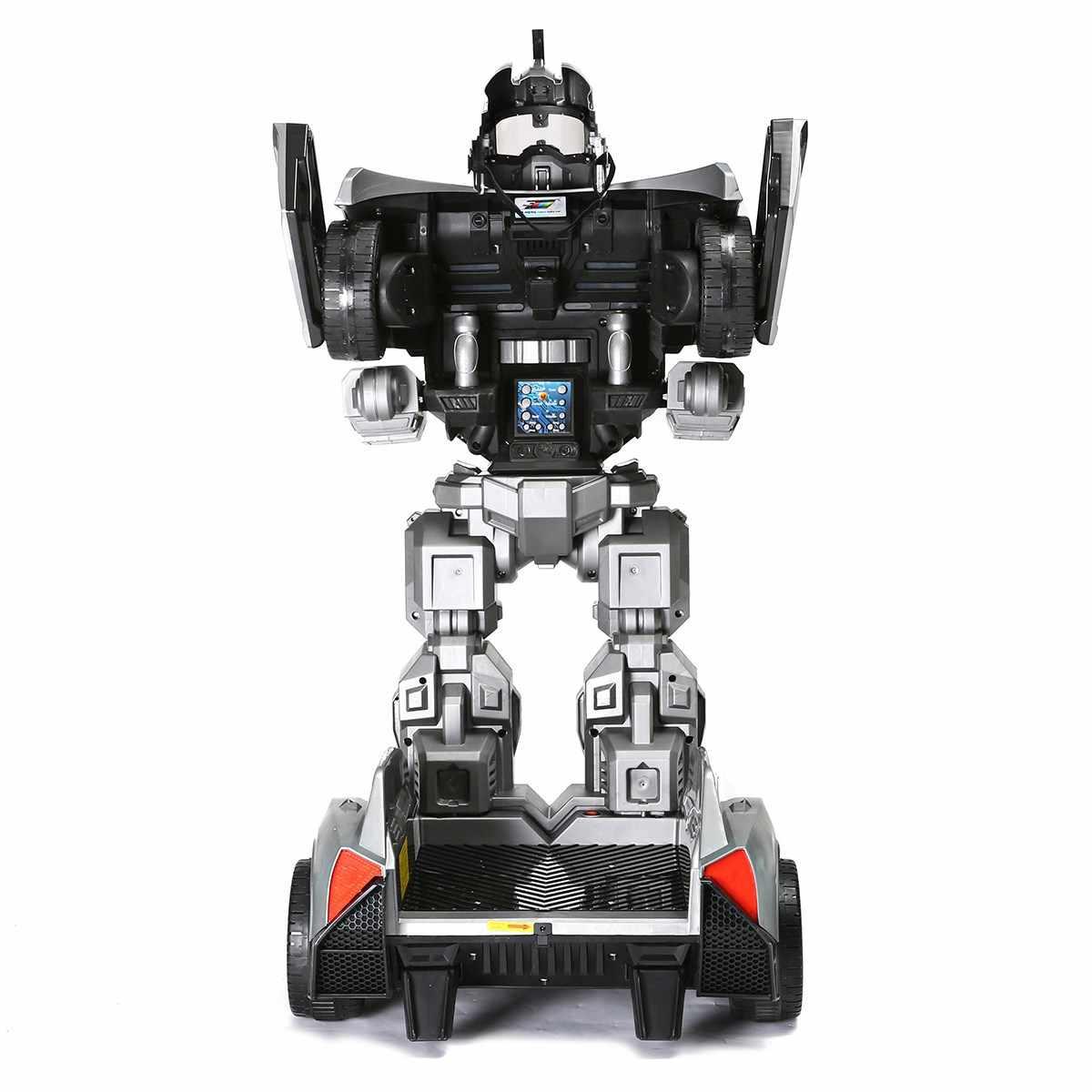 LEORY RC пилотируемый циклический зарядный человекоподобный робот игрушка автомобильный трансформатор подвижный с светодиодный фары для парка развлечений детей