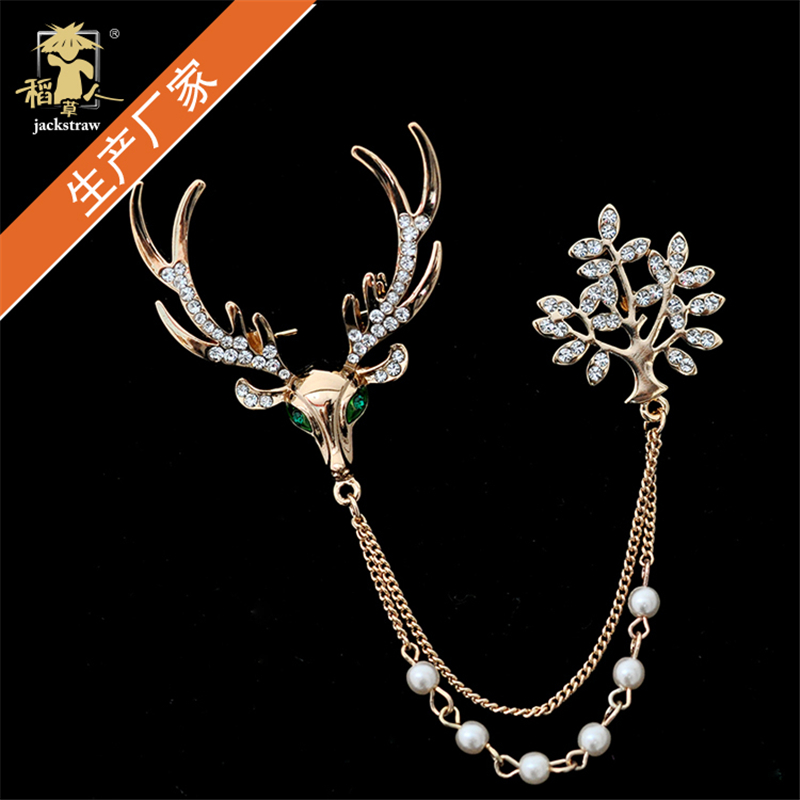 2018 good quality jewellery for girls and party! deer brooches Full Shining Brooches for wedding Girl ...