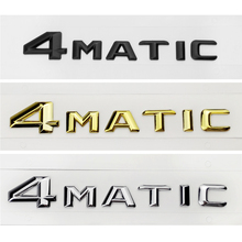Car Styling 2015 4MATIC 4 MATIC Logo Emblem Badge Decal Stickers for Mercedes Benz S500 GLS63 E320L GLE400 GLK260 R400 CLA45