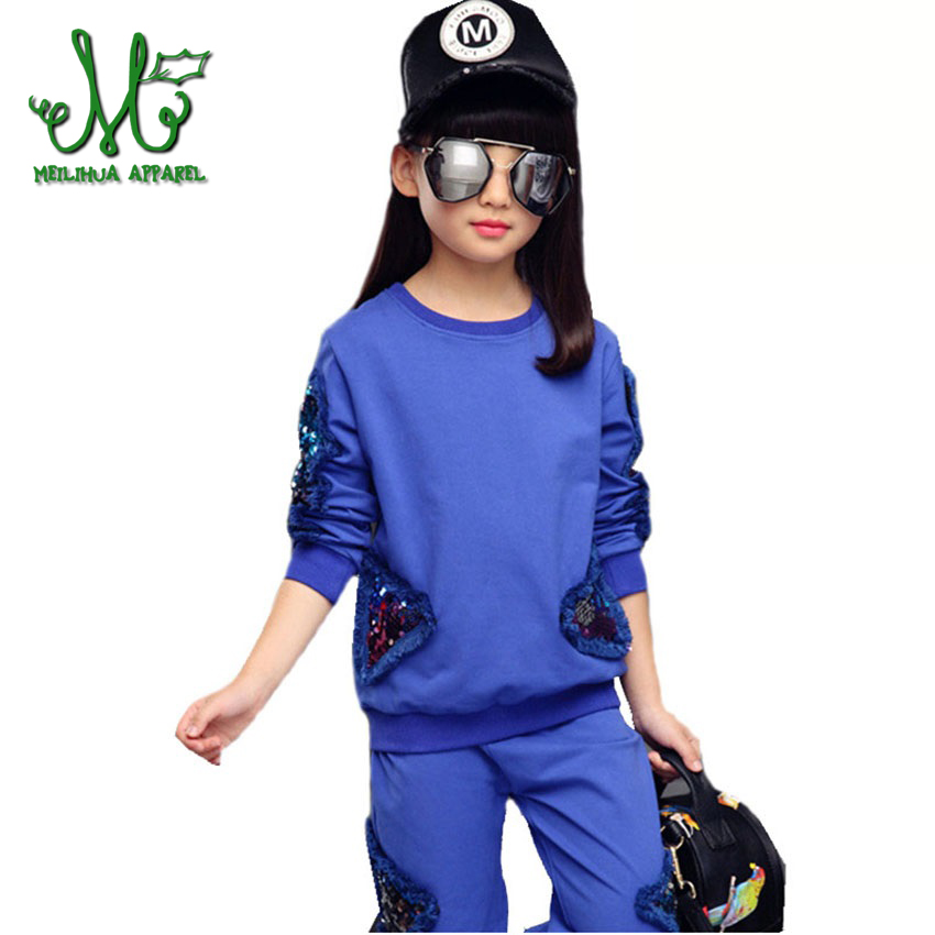 19ae274a7 Teen Girl sport suit Kids Sets Cotton Character Sports Girls Set ...