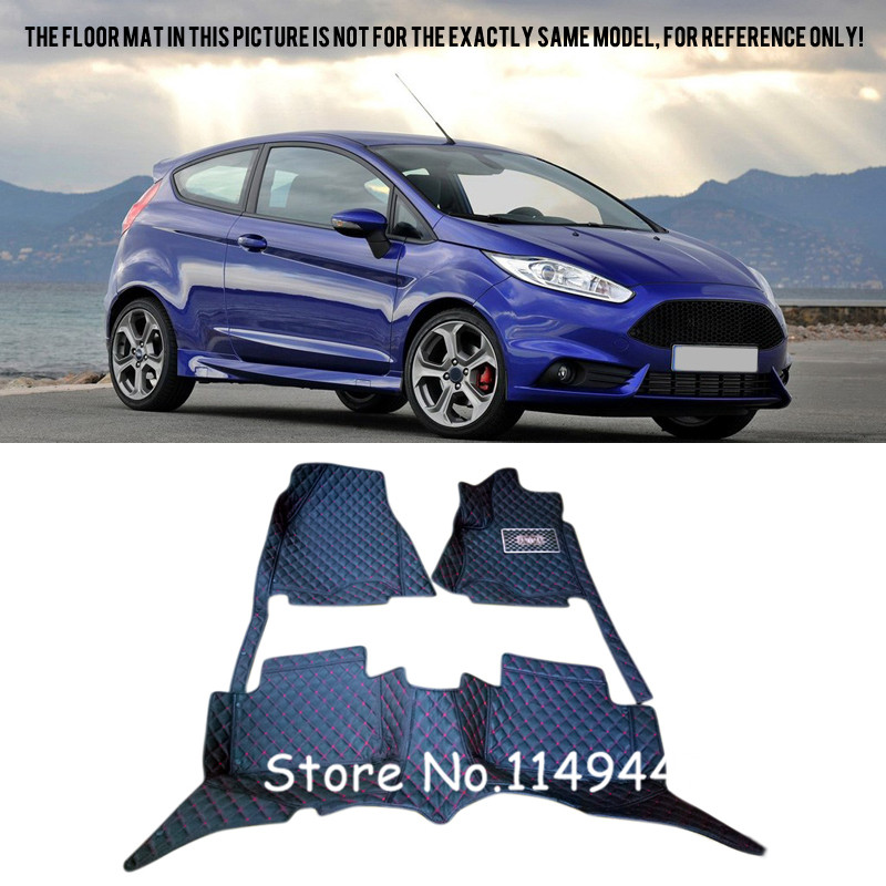 For Ford Fiesta 2013 2014 2015 Interior Car styling Rugs Carpet Floor Mats Liners цена