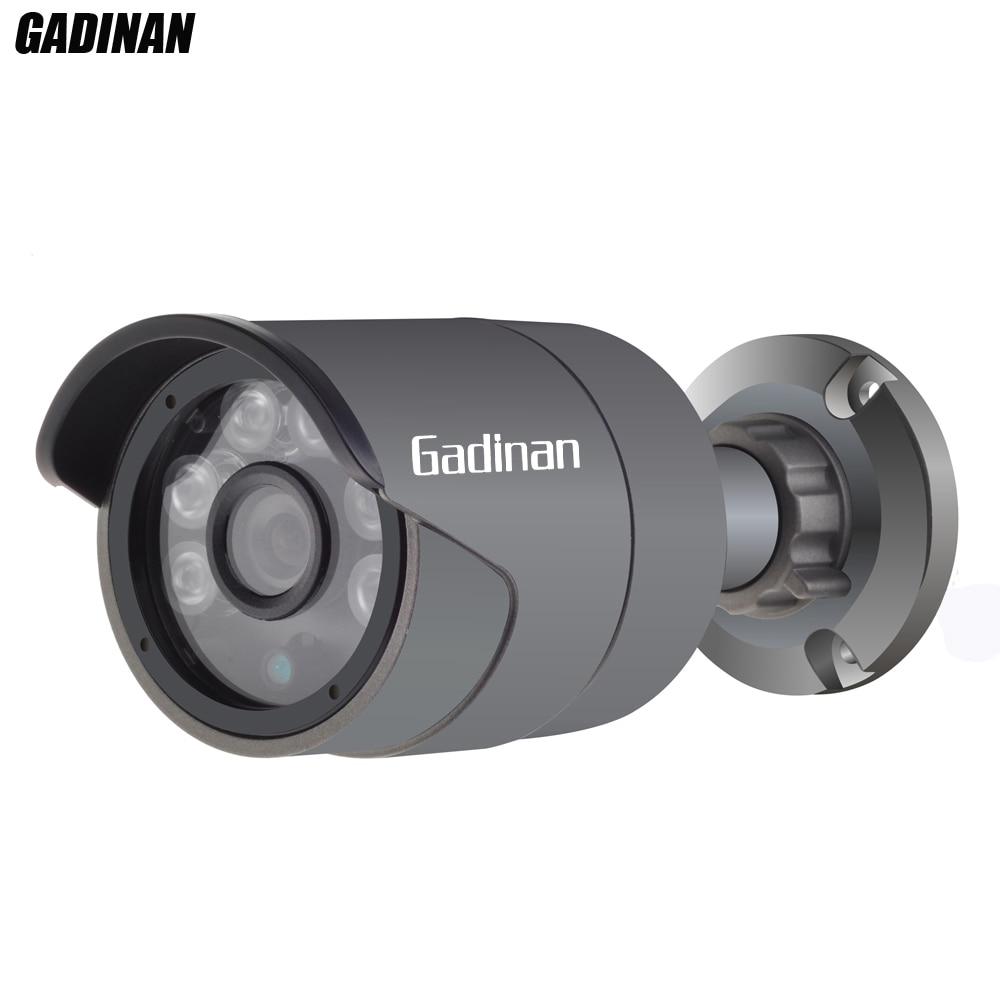 GADINAN Full HD 48 v PoE IP Caméra 720 p 960 p H.264 1080 p H.265 Extérieure Bullet Caméra de Sécurité ONVIF 2.0 IP66 Waterpoof 3.6mm Lentille