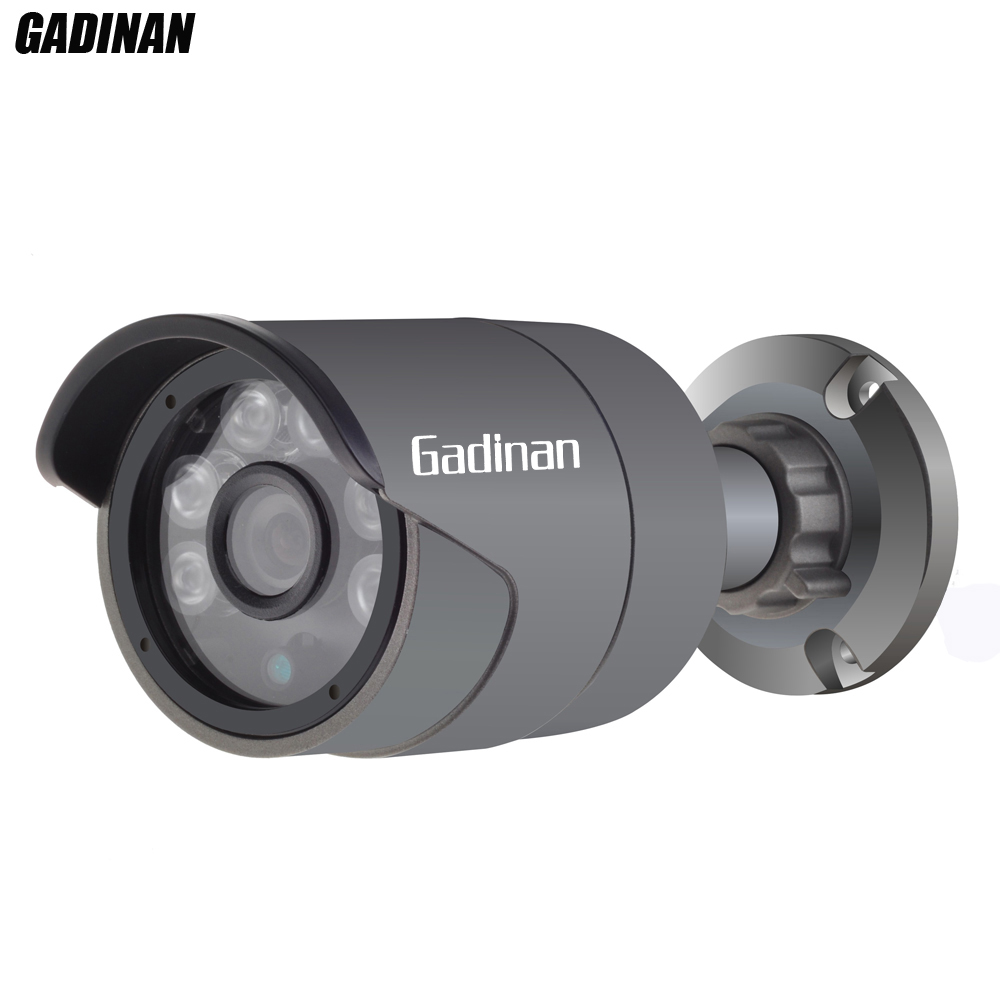GADINAN Full HD 48V PoE IP Camera 720P 960P H.264 1080P H.265 Outdoor Bullet Security Camera ONVIF 2.0 IP66 Waterpoof 3.6mm Lens full hd 1080p bullet outdoor security camera ip 960p 720p 1mp free shipping