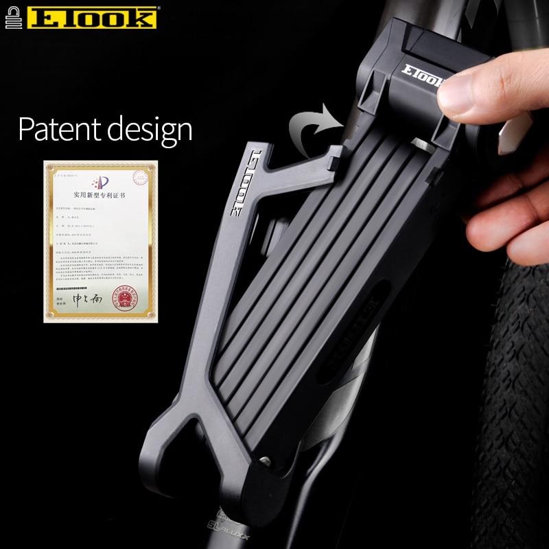 Etook Bike Folding Lock 15T Shear Patent Bracket High Security Foldable Lock For Motorbike E bike