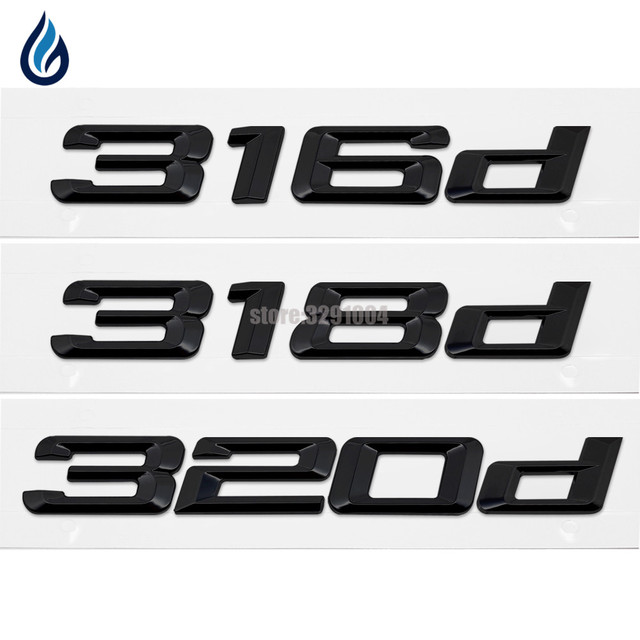316d 318d 320d car emblem rear number letter sticker for bmw 3 series f30 f31 f34