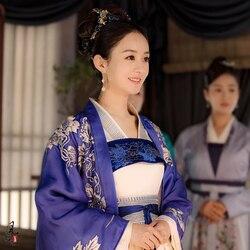 3 вида конструкций Чжао LiYing нежная леди костюм с вышивкой династия Мин богатая девочка ханьфу костюм новейшая телевизионная игра Легенда Ming...