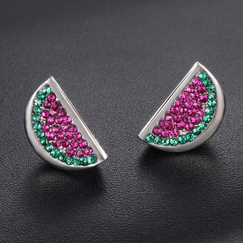 HOMOD Cute Watermelon Silver Charm Beads European DIY Beads Fit Pandora Charms Bracelets & Bangle Women Fashion Jewelry