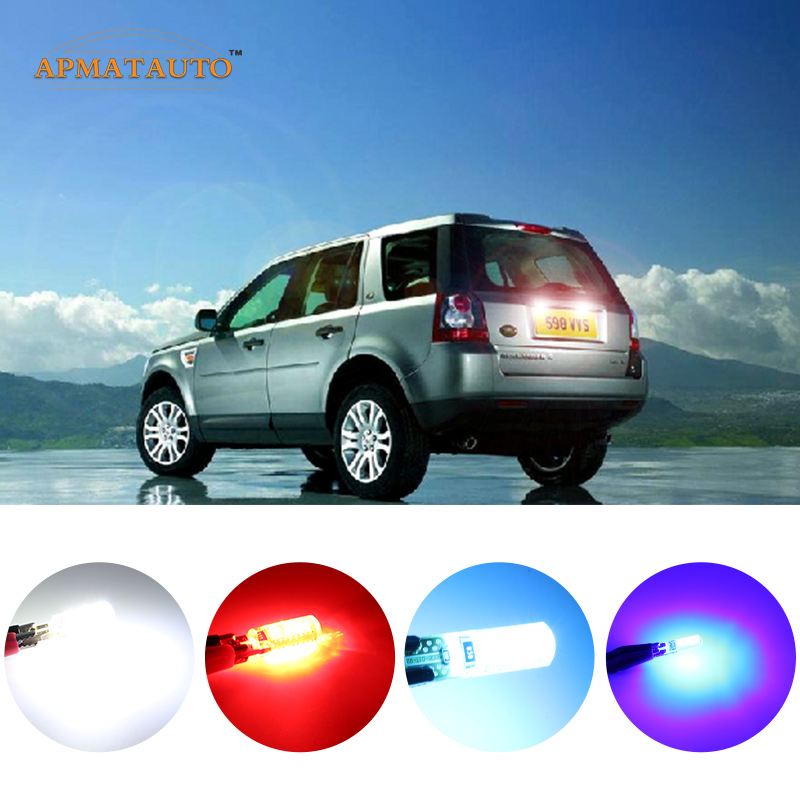 2 x T10 W5W T16 License Number Plate Light No Error LED Bulbs For Land Rover Discovery Range Rover Evoque Freelander Defender