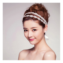 MWsonya Bridal Headbands Wedding Hair Accessories Shiny Rhinestone Crystal Double For Women 3H3019China