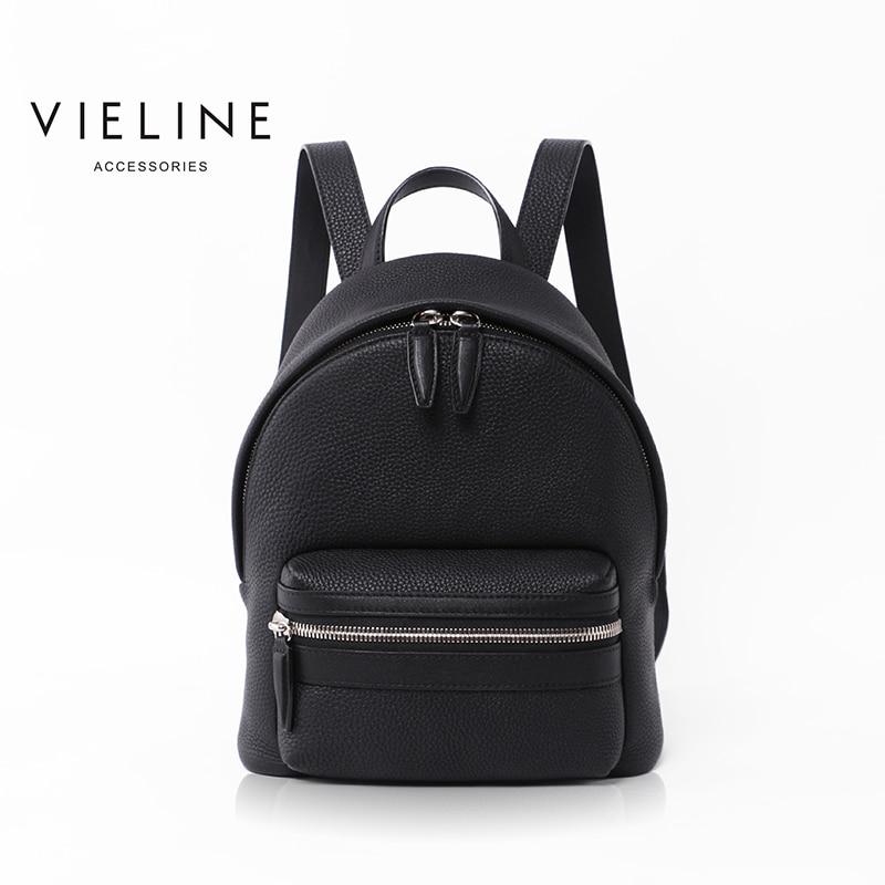 Vieline, nouvelle marque femmes sac à dos en cuir véritable lady sac à dos en cuir véritable, cartable en cuir. livraison gratuite