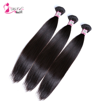 Ms Cat Hair Malaysia Straight Hair Bundles Human Hair Extensions Double Weft Non Remy Hair Weave