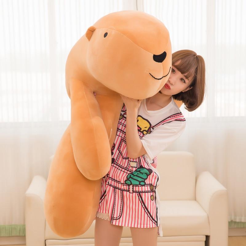 Nouveau joli grand Animal doux Capybara en peluche grand dessin animé en peluche câlin oreiller coussin ours - 5