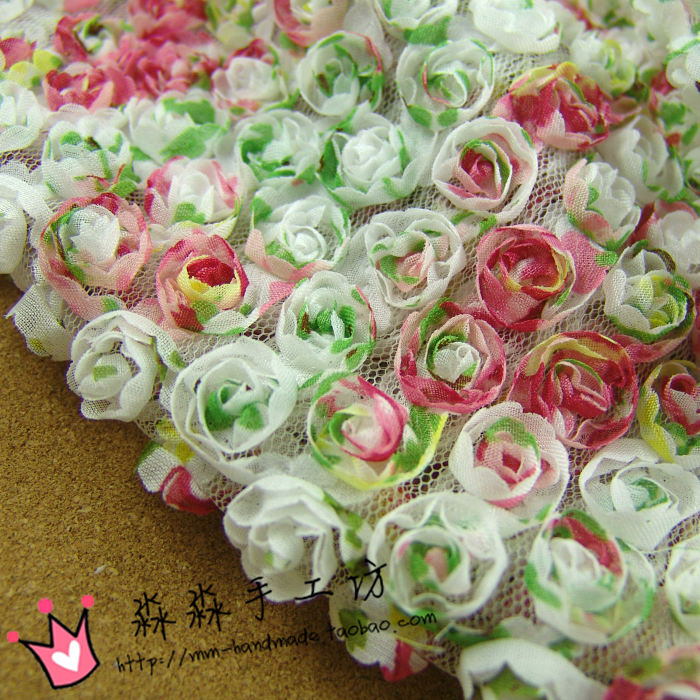 Color Small White   Yarn Three-dimensional Flower Rose Lace Flower Disc  Fabric/wedding Childrens Dress100*130cmColor Small White   Yarn Three-dimensional Flower Rose Lace Flower Disc  Fabric/wedding Childrens Dress100*130cm