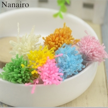 150pcs Glass Double Head Mini Pearl Stamen Artificial Flower For Wedding Decoration DIY Scrapbooking Wreath Fake pistil  Flowers
