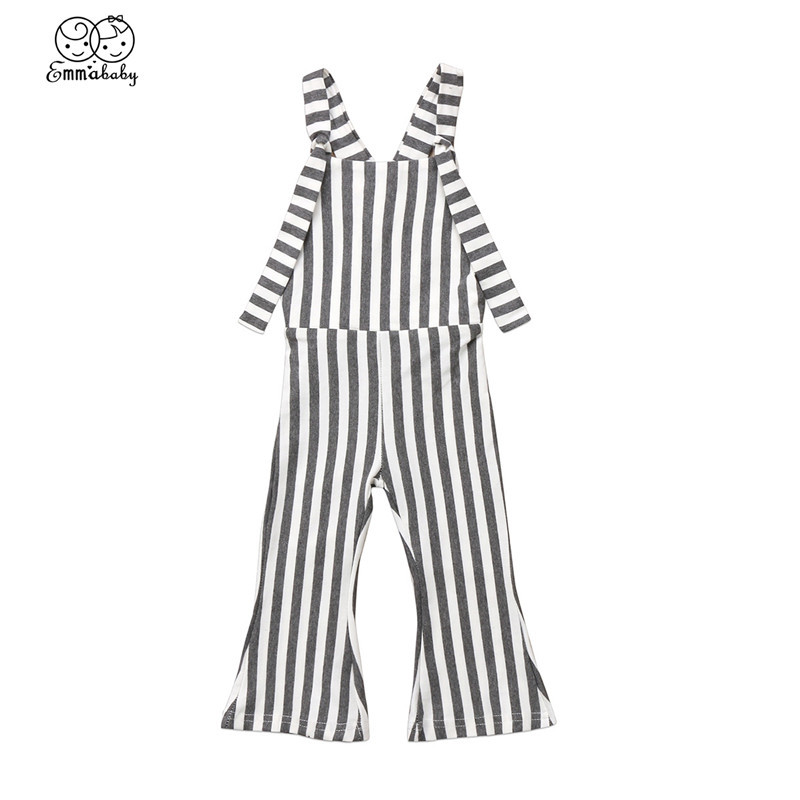 Lovely Kids Baby Girls Striped Bib Overalls Brace Pants Romper Baby Girl Clothes Outfits 2018 New Bebes Summer Fashion Jumpsuit