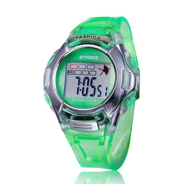 2018 1PC Kids Sports Digital LED Watches Wrist Watch Alarm Date Rubber Wrist Lev