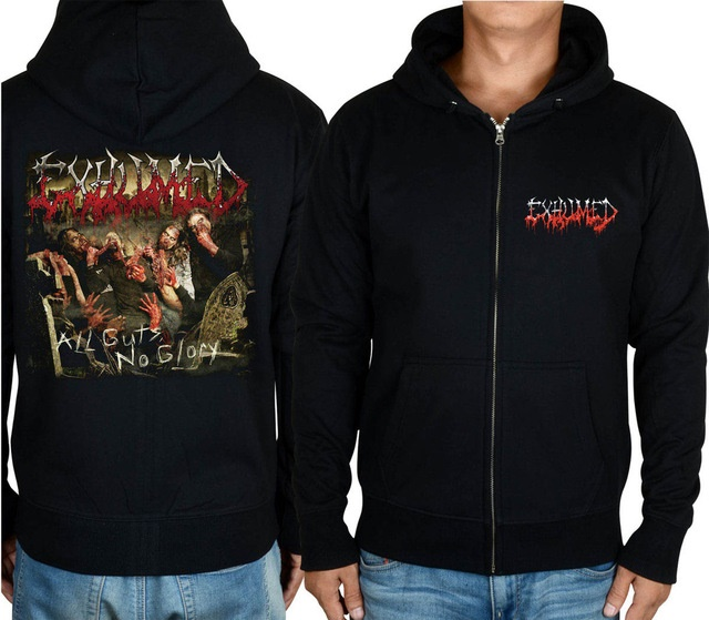 11 видов конструкций на молнии Exhumed Rock hoodies оболочка куртка 3D бренд панк Темный металлический Свитшот saw sudadera спортивная одежда - Цвет: 10