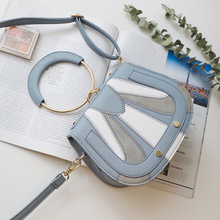 Miyahouse Sweet Style Shoulder Bag For Women PU Leather Messenger Bag For Female Panelled Candy Color Crossbody Bag For Female
