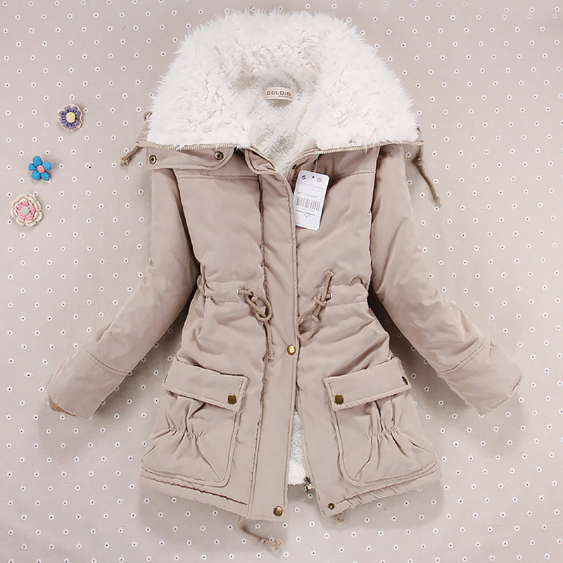 Women jacket women winter coat Autumn and winter Korean loose large lapel cotton jackets women   parka   winter jacket