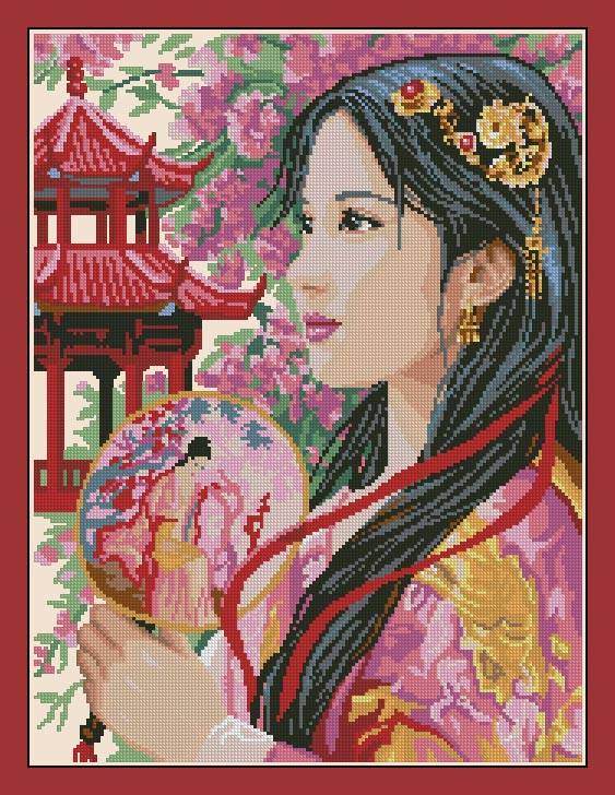 Top Quality Lovely Hot Sell Counted Cross Stitch Kit Beautiful Pretty Woman Lady Girl In Winter Snow Plum Blossom Latest Fashion Electronic Components & Supplies