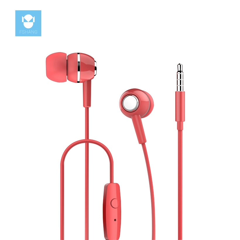 FSHANG Earphone Colorful Mini In Ear Earphones Earpiece Airpods MP3 Player Earbuds Auricular Ear Phone In-Ear Sluchatka Audifono kz ed8m earphone 3 5mm jack hifi earphones in ear headphones with microphone hands free auricolare for phone auriculares sport