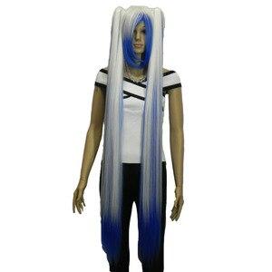 Image 4 - Strongbeauty女性のコスプレかつらダブルポニーテールロングストレート髪型2クリップオン合成耐熱性繊維かつら