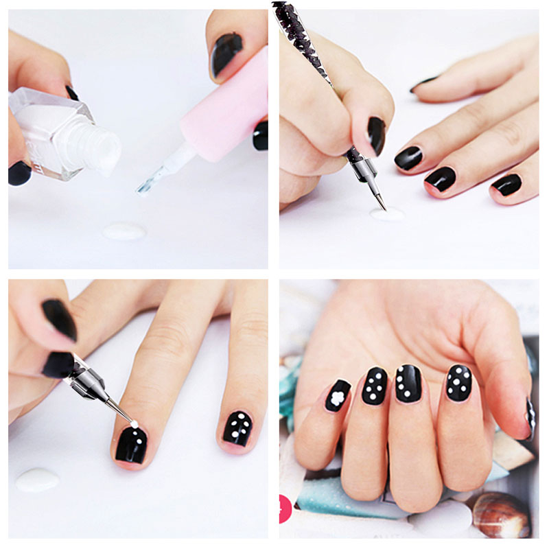 5pcs 2 ways nail art dotting pen pencil rhinestones decorations 5pcs 2 ways nail art dotting pen pencil rhinestones decorations painting drawing brush pen nail art decorations picking pen in underwear from mother kids prinsesfo Image collections