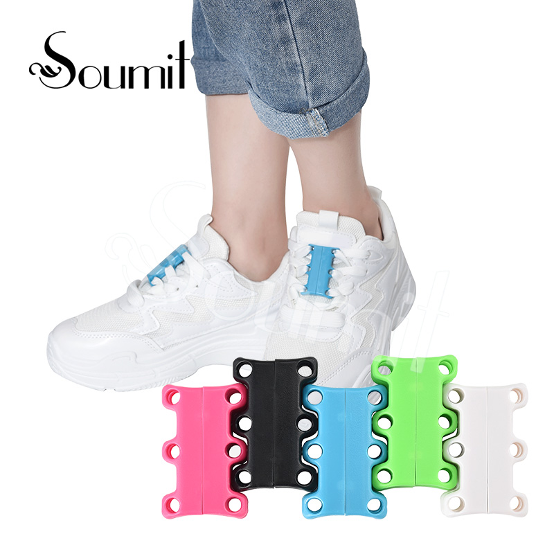 Soumit Magnetic Shoes Buckles Metal Easily Lace-up Casual Sneaker Closure Shoes laces No-Tie Lazy Shoelaces Buckles Decorations