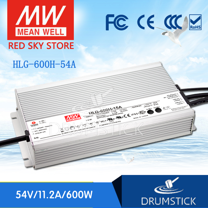 (12.12)MEAN WELL HLG-600H-54A 54V 11.2A meanwell HLG-600H 604.8W Single Output LED Driver Power Supply A type [powernex] mean well original hlg 40h 54a 54v 0 75a meanwell hlg 40h 54v 40 5w single output led driver power supply a type