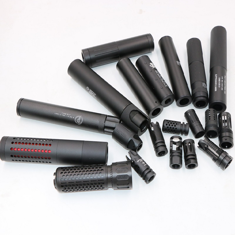 Tactical M4 Silencer Muffler 14mm-19mm For Toy M4 General Airsoft Refitting Front Tube Hunting Accessories