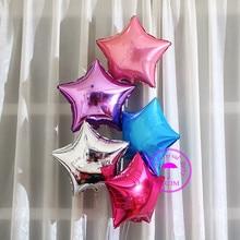 ballon helium balloon star shaped children birthday party decoration supplies pink purple gold silver blue