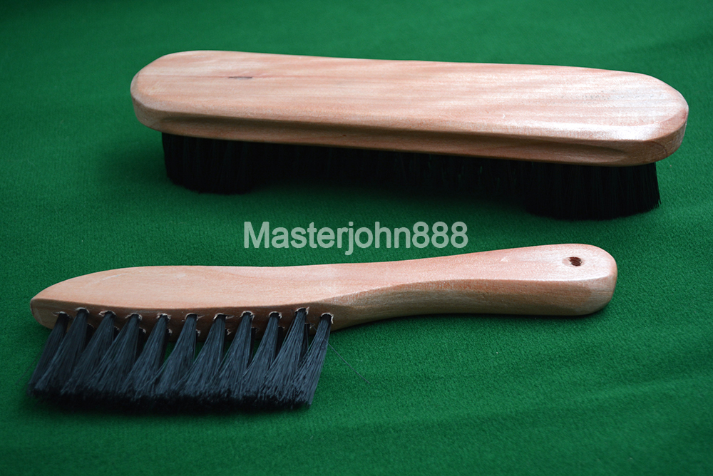 2pcs Pool Billiards Snooker Bid Wooden Table Brush Snooker Table Fiber Cloth Cleaning Accessories Free Shipping Wholesales in Snooker Billiard Accessories from Sports Entertainment