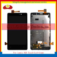 10pcs Lot DHL High Quality 4 3 For Nokia Lumia 820 Full Lcd Display With Touch